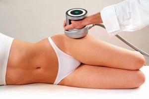 aplicación de ultrasonidos de cavitación